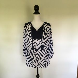 Navy & White Top Traveler's Collection by Chicos
